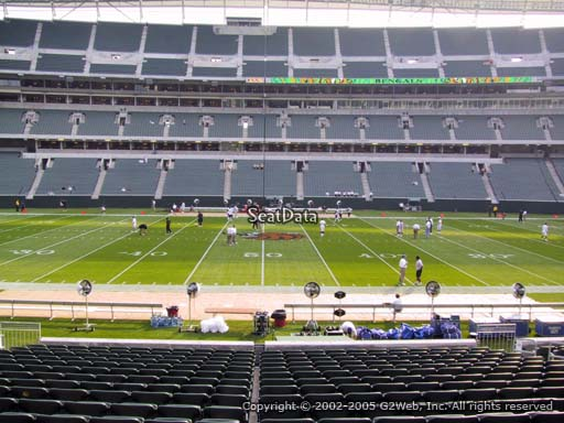 Seat view from section 140 at Paul Brown Stadium, home of the Cincinnati Bengals