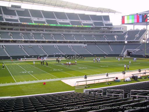 Seat view from section 142 at Paul Brown Stadium, home of the Cincinnati Bengals