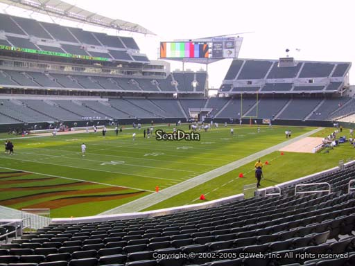 Seat view from section 149 at Paul Brown Stadium, home of the Cincinnati Bengals