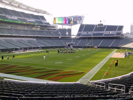 Seat view from section 150 at Paul Brown Stadium, home of the Cincinnati Bengals