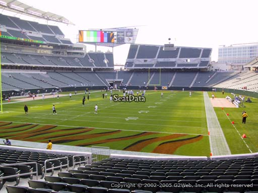 Seat view from section 151 at Paul Brown Stadium, home of the Cincinnati Bengals