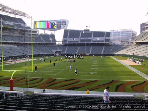 Seat view from section 152 at Paul Brown Stadium, home of the Cincinnati Bengals