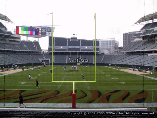 Seat view from section 154 at Paul Brown Stadium, home of the Cincinnati Bengals