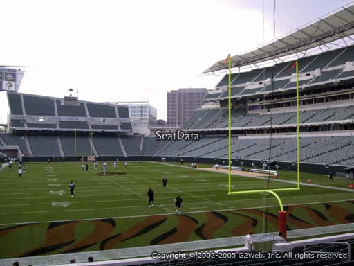 Seat view from section 156 at Paul Brown Stadium, home of the Cincinnati Bengals