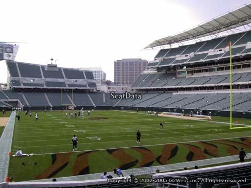 Seat view from section 158 at Paul Brown Stadium, home of the Cincinnati Bengals
