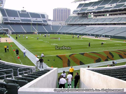 Seat view from section 160 at Paul Brown Stadium, home of the Cincinnati Bengals