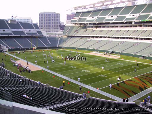 Seat view from section 202 at Paul Brown Stadium, home of the Cincinnati Bengals