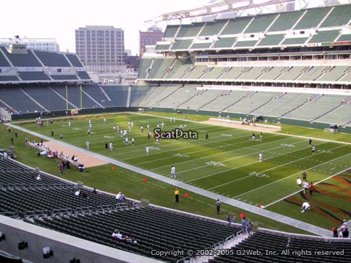 Seat view from section 203 at Paul Brown Stadium, home of the Cincinnati Bengals