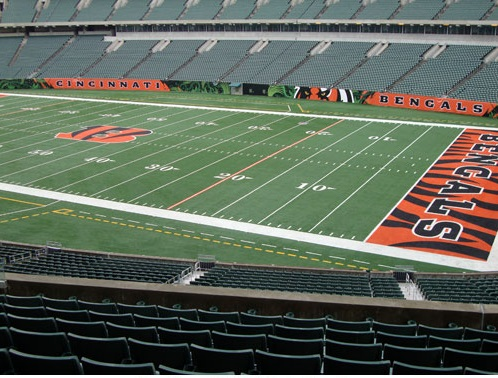 Seat view from section 204 at Paul Brown Stadium, home of the Cincinnati Bengals