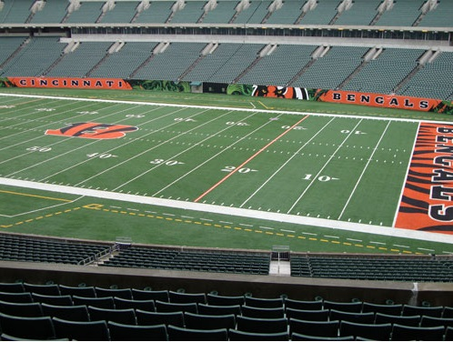 Seat view from section 205 at Paul Brown Stadium, home of the Cincinnati Bengals