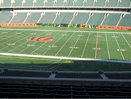 Seat view from section 207 at Paul Brown Stadium, home of the Cincinnati Bengals
