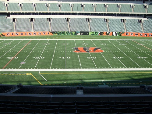 Seat view from section 211 at Paul Brown Stadium, home of the Cincinnati Bengals