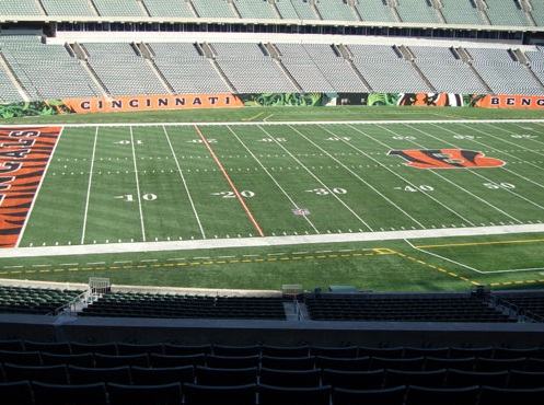 Seat view from section 214 at Paul Brown Stadium, home of the Cincinnati Bengals