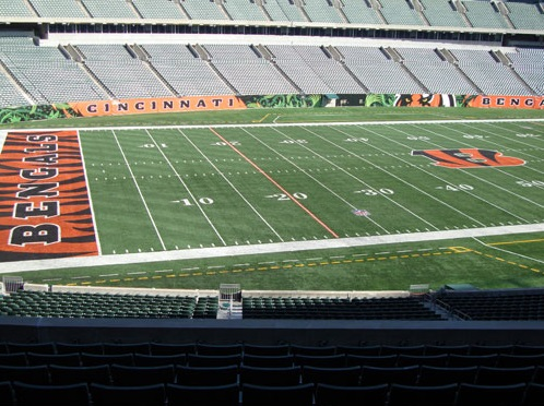 Seat view from section 215 at Paul Brown Stadium, home of the Cincinnati Bengals
