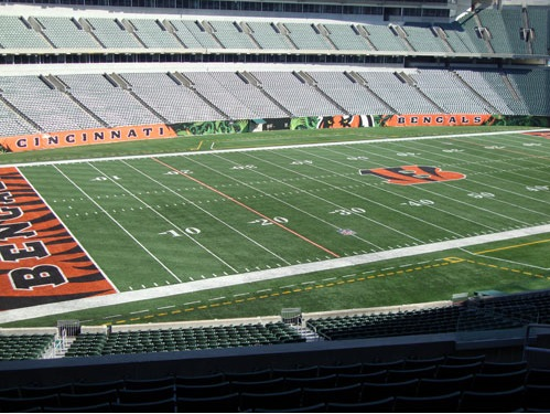 Seat view from section 216 at Paul Brown Stadium, home of the Cincinnati Bengals