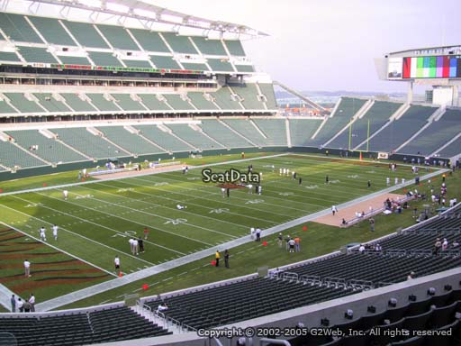 Seat view from section 217 at Paul Brown Stadium, home of the Cincinnati Bengals