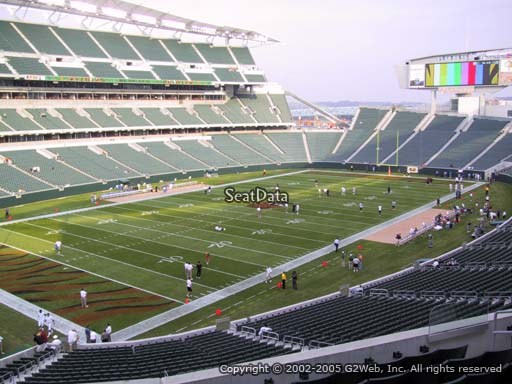 Seat view from section 218 at Paul Brown Stadium, home of the Cincinnati Bengals