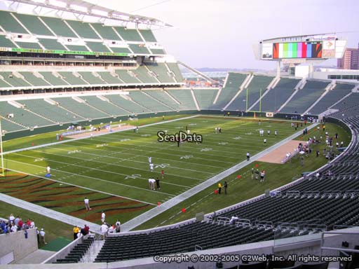 Seat view from section 219 at Paul Brown Stadium, home of the Cincinnati Bengals