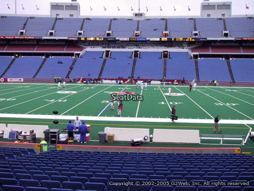 Seat view from section 111 at New Era Field, home of the Buffalo Bills