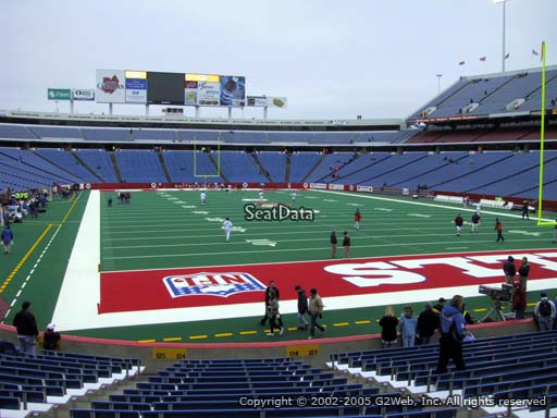 Seat view from section 124 at New Era Field, home of the Buffalo Bills