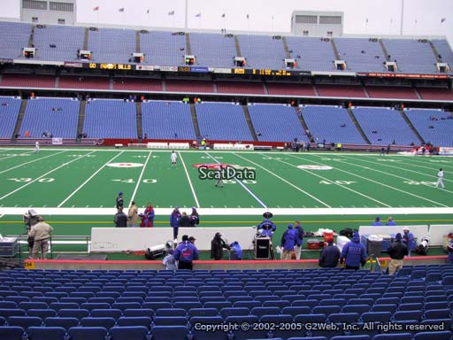 Seat view from section 134 at New Era Field, home of the Buffalo Bills