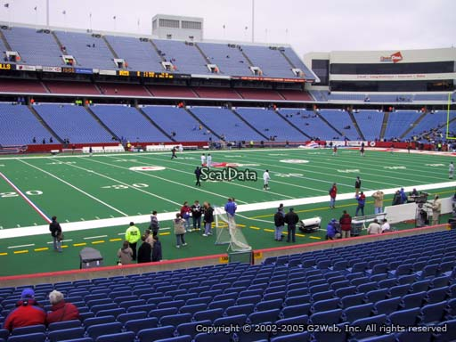 Seat view from section 136 at New Era Field, home of the Buffalo Bills
