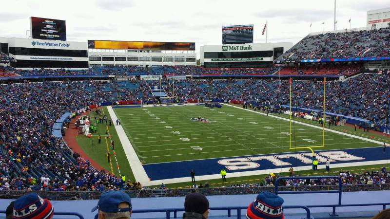 Seat view from section 202 at New Era Field, home of the Buffalo Bills