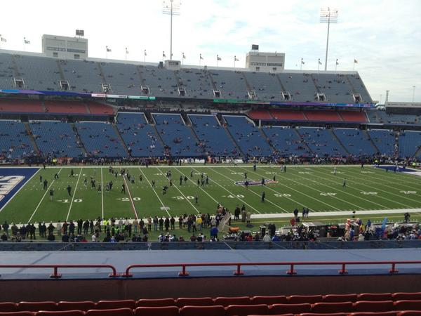 Seat view from section 214 at New Era Field, home of the Buffalo Bills