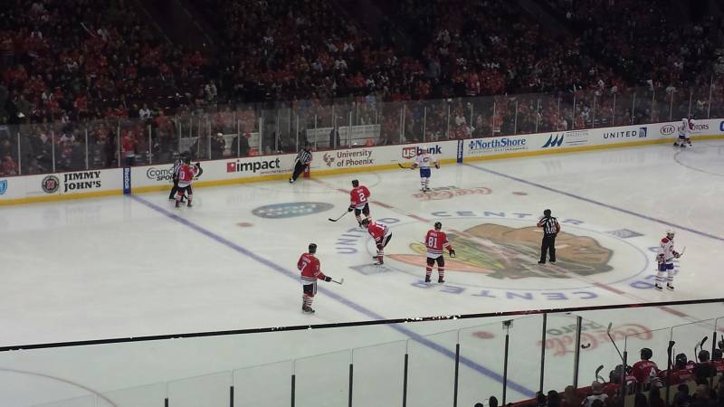 Seat view from section 203 at the United Center, home of the Chicago Blackhawks