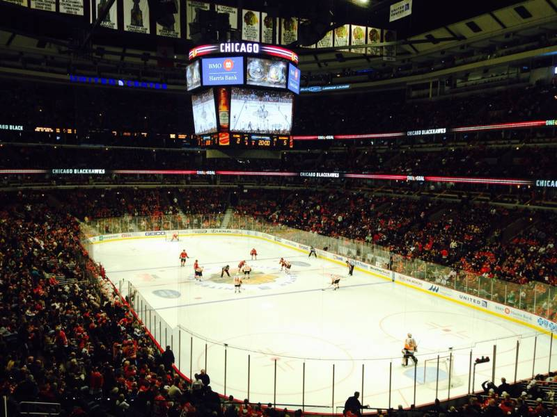 Seat view from section 229 at the United Center, home of the Chicago Blackhawks