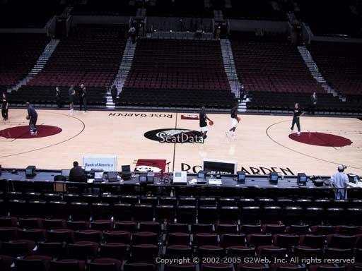 Seat view from section 101 at the Moda Center, home of the Portland Trail Blazers