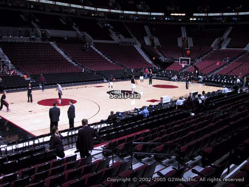 Seat view from section 103 at the Moda Center, home of the Portland Trail Blazers