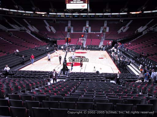 Seat view from section 106 at the Moda Center, home of the Portland Trail Blazers