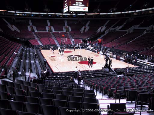 Seat view from section 108 at the Moda Center, home of the Portland Trail Blazers