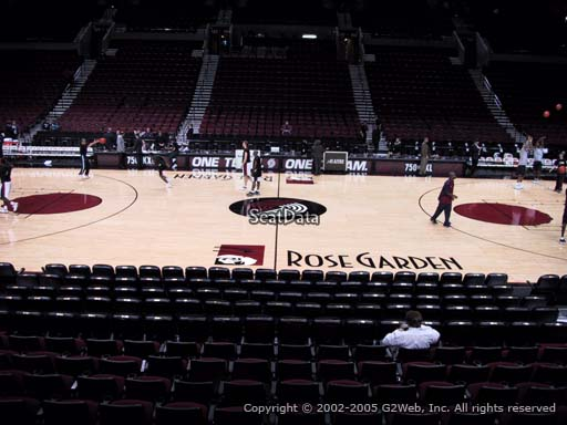 Seat view from section 112 at the Moda Center, home of the Portland Trail Blazers