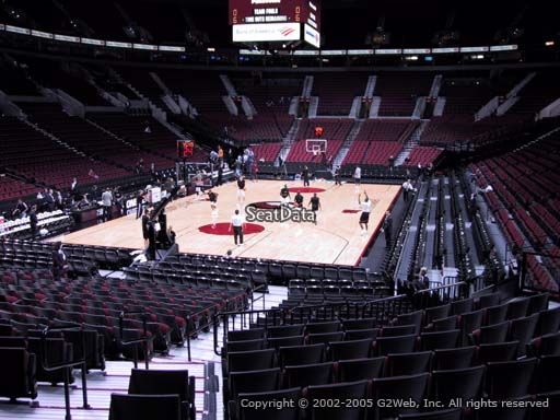 Seat view from section 116 at the Moda Center, home of the Portland Trail Blazers