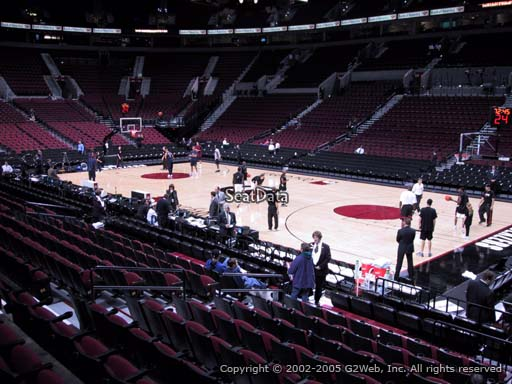 Seat view from section 121 at the Moda Center, home of the Portland Trail Blazers