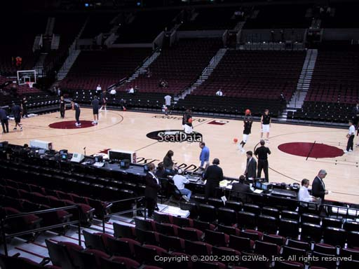 Seat view from section 122 at the Moda Center, home of the Portland Trail Blazers