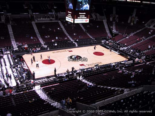 Seat view from section 203 at the Moda Center, home of the Portland Trail Blazers