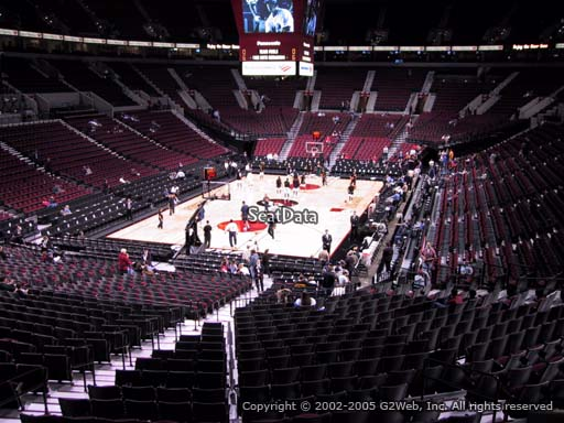 Seat view from section 207 at the Moda Center, home of the Portland Trail Blazers