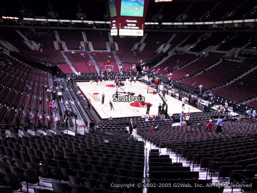 Seat view from section 210 at the Moda Center, home of the Portland Trail Blazers