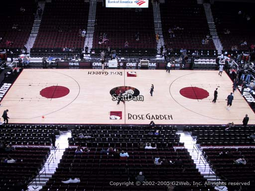 Seat view from section 216 at the Moda Center, home of the Portland Trail Blazers