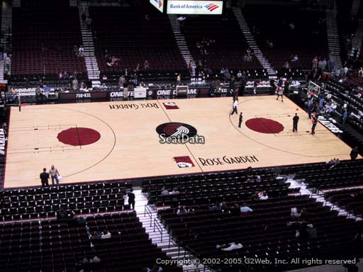 Seat view from section 217 at the Moda Center, home of the Portland Trail Blazers