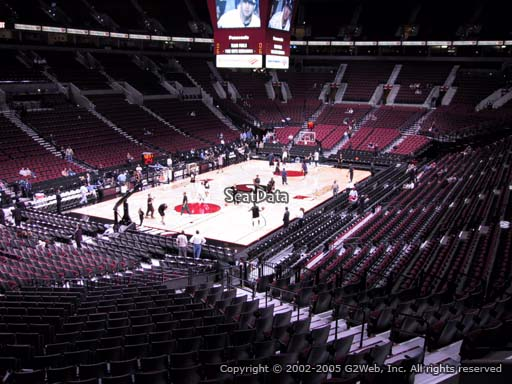 Seat view from section 221 at the Moda Center, home of the Portland Trail Blazers
