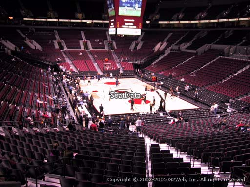 Seat view from section 225 at the Moda Center, home of the Portland Trail Blazers