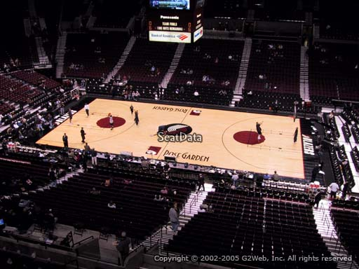 Seat view from section 230 at the Moda Center, home of the Portland Trail Blazers