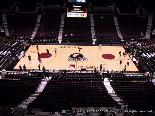Seat view from section 301 at the Moda Center, home of the Portland Trail Blazers