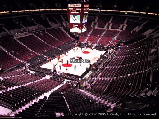 Seat view from section 307 at the Moda Center, home of the Portland Trail Blazers