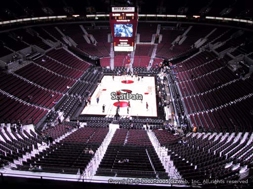 Seat view from section 309 at the Moda Center, home of the Portland Trail Blazers