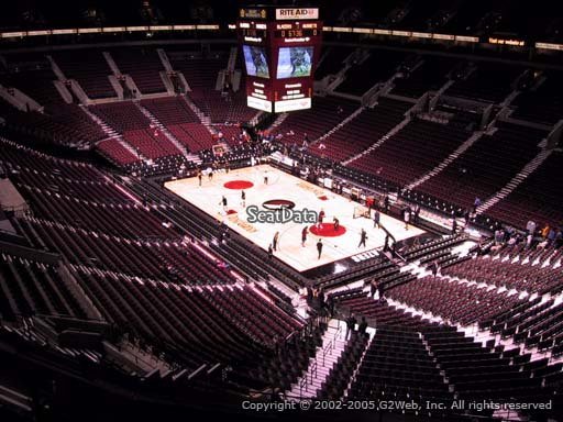 Seat view from section 313 at the Moda Center, home of the Portland Trail Blazers